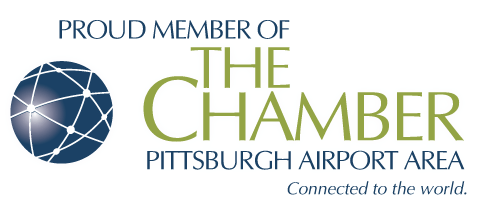 The Chamber Pittsburgh Airport Area logo representing the membership of mold testing company Bactronix in Moon, PA
